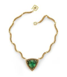 """""""Cleo"""" Necklace - 18k gold and green amethyst"""