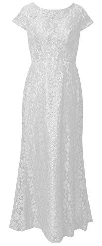 MaliaDress Womens Lace Full Lined Evening Dress Prom Gown M210LF White US20W >>> For more information, visit image link-affiliate link. #SweatersForWomen