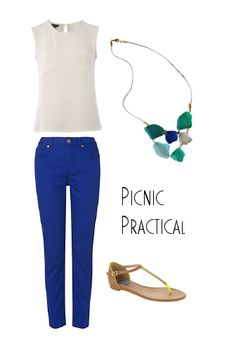 Perfect #picnic outfit for perfect picnic weather. This week's #styleguide featuring our Sea Glass #Necklace