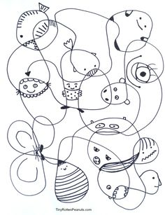 Scribble Creatures! The easiest way to be creative for a half hour..