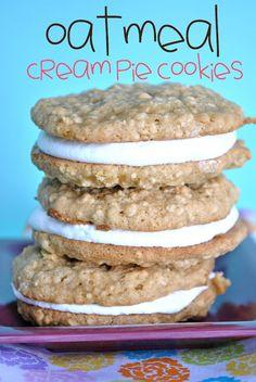 Oatmeal Cream Pie Cookies; somethingswanky