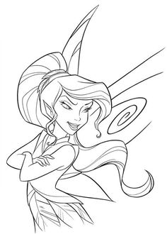 tinker bell coloring pages - free, printable tinkerbell fun ... - Disney Fairy Vidia Coloring Pages