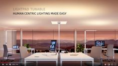 The new Lightpad Tunable, together with the specially developed app (MyLights Tunable for Android and iOS), makes Human Centric Lighting accessible for all u. Office Lighting, Make It Simple, English, App, Bathroom, Videos, Link, Youtube, Home Decor