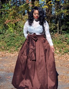A personal favorite from my Etsy shop https://www.etsy.com/listing/257450499/plus-size-maxi-skirt-all-colors