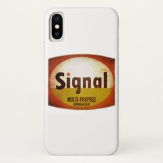 Signal Multi-purpose Grease vintage weathered sign iPhone X Case Custom Brandable Electronics Gifts for your buniness #electronics #logo #brand