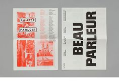 Viviane Jalil » Parloir Newspaper realized during a ten days workshop at Chaumont (France) hosted by James Goggin. The newspaper's goal was to re-establish a dialogue between the festival of Chaumont and the citizens.Collective publication.