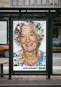 5 mosaic portraits made out of thousands of IKEA products for the Swedish Summer and Autumn campaign of IKEA. Made by Tsevis Visual Design for Forsman & Bodenfors.