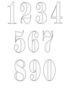 Numbers Templates - free numbers templates that you can print and use in your craft projects. Number Stencils, Free Stencils, Letter Stencils, Stencil Templates, Number Fonts Free, Free Printable Numbers, Graffiti Numbers, Graffiti Lettering, Bullet Journal Font