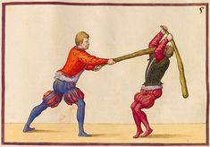 Volume I of 'De Arte Athletica' by Paul (Paulus) Hector Mair (mid-1500s) - Alia Plaga Loetalis