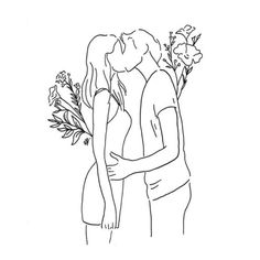 Kiss me hello discovered by on We Heart It - Art Sketches Minimalist Drawing, Minimalist Art, Illustration Art, Illustrations, Simple Art, White Art, Cute Drawings, Line Drawing, Art Sketches