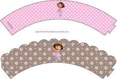 Kit Festa Dora Bailarina Para Imprimir Grátis Baby Shower Crafts, Dora The Explorer, Party Printables, Cupcake Toppers, Paper Dolls, Wraps, Prints, Birthday Ideas, Ballet