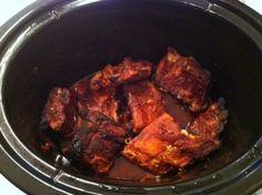 Crock pot ribs cooked