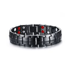 >> Click to Buy << Black Color 22cm Stainless Steel Double Layers Magnetic Bracelet Men Jewelry Mens Bracelets 2017 Dropship Wholesale Free Ship #Affiliate