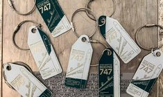 Aviationtags from Boeing 747 green/white Boeing 747, Aviation, Personalized Items, Green, Aircraft