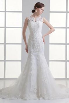 Long Lace Fabric Church Winter Zipper Up Notched Thin Button Tulle Overlay Summer Wedding Dress