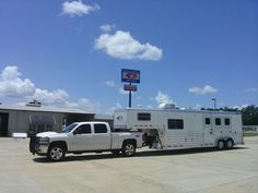 Congratulations and thank you to Stephanie Tassos from Katy, Texas. She purchased this 2014 4-Star 3 Horse w/ Proline by Outlaw Living Quarters from Buddy Maxwell at Gulf Coast 4-Star Trailer Sales. (877) 543-0733