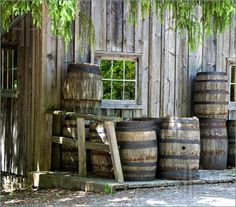 Image detail for -Pics of oak barrels for wine and whiskey aging and storage in front of ...