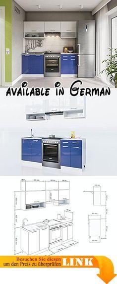 B077G1LHZQ  ELDORADO-MÖBEL KÜCHE LUX 230 CM ROT L-FORM - küchenzeile 220 cm mit elektrogeräten