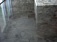 béton ciré brillant effet marbre