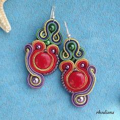 Oriental Splendor Soutache Earrings