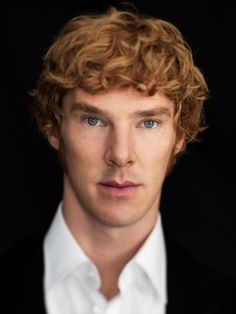 I just found out that Benedict Cumberbatch's natural hair color is AUBURN.