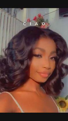 Black Bridesmaids Hairstyles, Bride Hairstyles, Bridesmaid Hair, Weave Hairstyles, Pretty Hairstyles, Hairstyles For Medium Length Hair Easy, Black Girls Hairstyles, Prom Hair, Curly Hair Styles