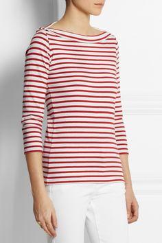 Burberry Brit|Striped cotton-jersey top|NET-A-PORTER.COM
