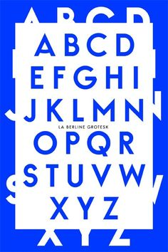 Berline grotesk typeface / by Les Graphiquants