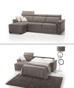 divano slim angolo con pouff | divani | pinterest | shops and ... - Reclinabile Divano Ad Angolo Chaise