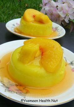 Yasmeen Health Nut: Cardamom Mango Panna Cotta With Honey Peach Sauce