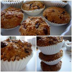 sweet melange: Celozrnné muffiny s čokoládou a rozinkami