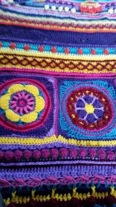 Crochet by Aislin Sophie's Universe Cal with circles of the sun