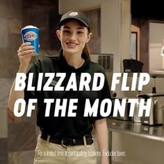 How do you flip the Cotton Candy BLIZZARD of the Month? With the Cotton Candy Curler Flip of the Month! Served upside down or the next one's free. Cotton Candy Blizzard, Queens Food, Dairy Queen, Free