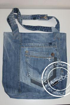 Tas gemaakt van een Pepe jeans London. Made by A-leebel.nl