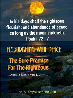 YOU shall flourish with peace. God sure promise for YOU.