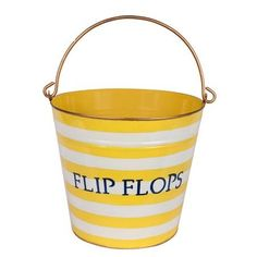 Flip Flop Bucket.  Perfect for a beach house.