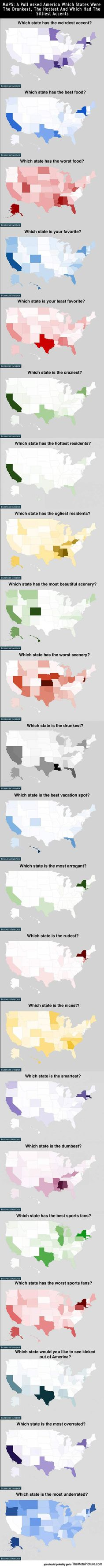 How Americans Feel About Every State - The Meta Picture