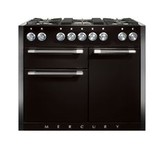 All of the iconic Mercury range cookers are available in a choice of colours which include the luxurious, gloss black Liquorice. This high quality handpicked finish on the Mercury 1082, ensures its position as the stylish centerpiece at the heart of the kitchen.