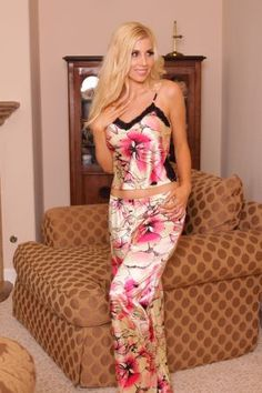 Floral Print Camisole w/Pants by Lovely Day Lingerie $29.95