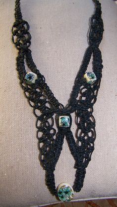 Macrame Necklace I made in 1976 or 1977. Far out!