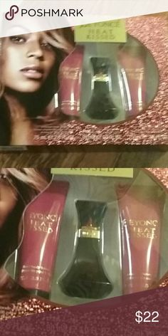 beyonce heat kissed perfume perfume set  body lotion 75 ml perfume 8ml and shower gel 75 ml beyonce heat kissed Other