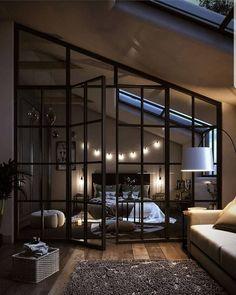 Loft Interior Design, Dream House Interior, Luxury Homes Dream Houses, Home Room Design, Dream Home Design, Modern House Design, Interior Design Inspiration, Bedroom Inspiration, Loft Design