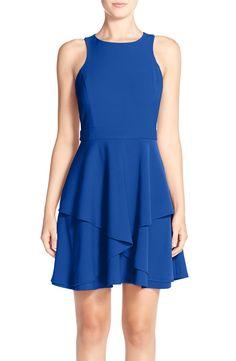 AdelynRae GabardineFit & Flare Dress