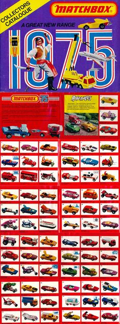 I had so many Matchbox and Hot Wheels cars over the years, I've forgotten which ones I had but I'm sure I had a bunch of these. Matchbox Autos, Matchbox Cars, 1970s Toys, Retro Toys, Nostalgia, Childhood Toys, Childhood Memories, Vintage Advertisements, Vintage Ads
