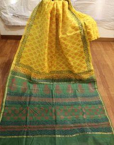 Yellow Chanderi Cotton Silk Saree Chanderi Sarees #sarees #saris #indianclothes #womenwear #anarkalis #lengha #ethnicwear #fashion #Bollywood #vogue #indiandesigners #handmade #britishasianfashion #instalove #desibride #bollywoodfashion #aashniandco #perniaspopupshop #style #indianbeauty #classy #instafashion #lakmefashionweek #indiancouture #londonshopping #bridal #allthingsbridal #statementpieces #weddingideas #jewelry #jewellery