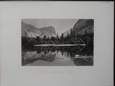 Steel plate engraving of Mirror Lake Yosemite Valley, 1872. 12.5″ x 9.25″ $125.
