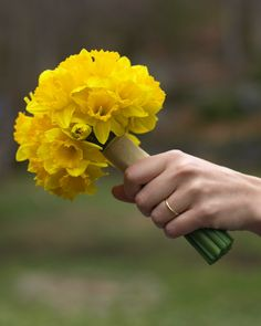 Bouquets? This or yellow roses.  The florist said daffodils will wilt quickly!