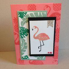kaartjes fun: Flirty flamingo