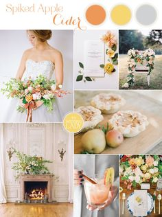 Wedding Signature Drink: Spiked Apple Cider Cocktail and Inspiration Board
