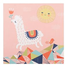 Leaping Alpaca Poster Decal | The Land of Nod